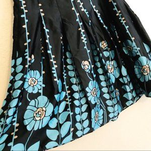 Mossimo Supply Co. Skirts - Black Floral Satin Full Pleated Skirt